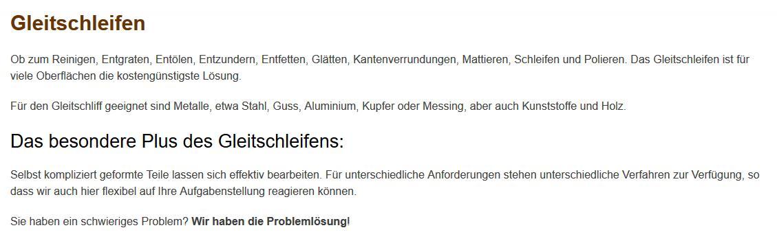 Gleitschleifen, Mattieren für 76676 Graben-Neudorf