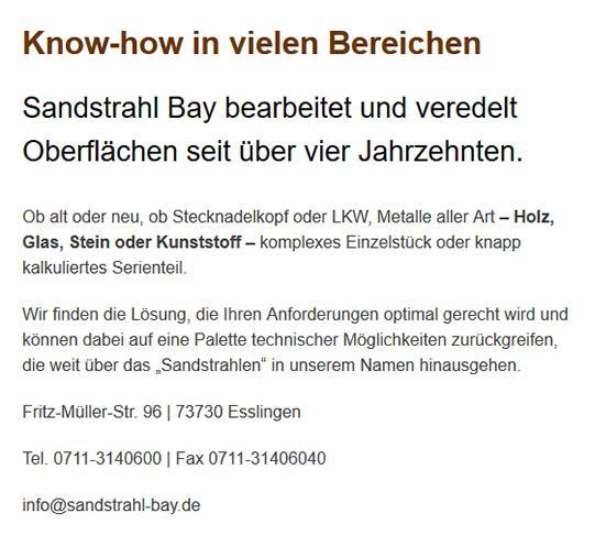 Oberflächenveredelung in 78087 Mönchweiler