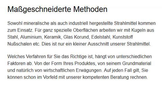 Strahlmittel, Wasserstrahlen für 78087 Mönchweiler